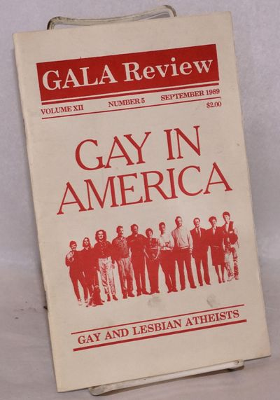 San Francisco: Gay Atheists League of America, 1989. Magazine. 28p., 5.5x8.5 inches, photos, feature...