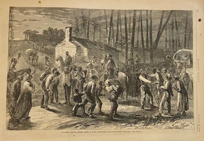 New York: Harper's Weekly, 1864. unbound. Woodcut engraving. Sheet measures 15.75 x 10.5