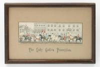 The Lady Godiva Procession [a landscape Stevengraph depicting a procession through the streets of...