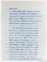 Autograph letter signed to his publisher, about progress on their projects, collaboration, and defining his own poetry