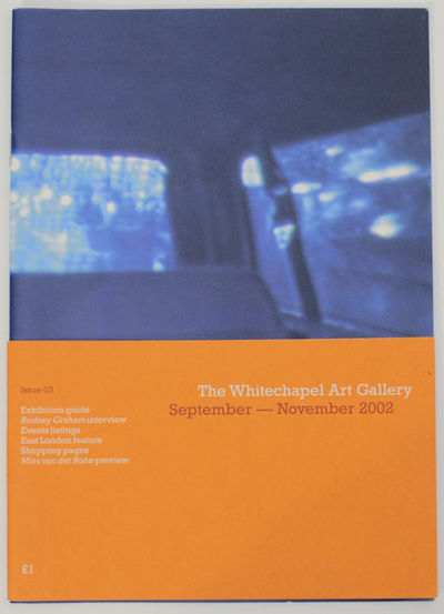 London: The Whitechapel Gallery, 2002. First edition. Softcover. 30 pages. A look at a Rodney Graham...