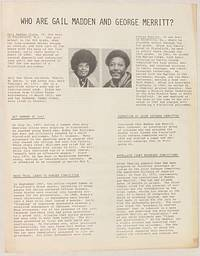 image of Who are Gail Madden and George Merritt? [handbill]