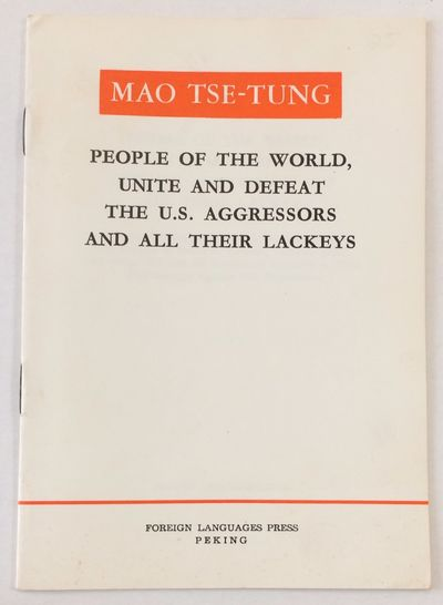 Peking: Foreign Language Press, 1967. 16p., very good staplebound pamphlet; second printing of the e...
