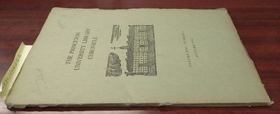 Princeton: Friends of the Library, 1951. Softcover. Octavo; G; Paperback; Spine, green without print...