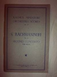 Kalmus Miniature Orchestra Scores: Rachmaninoff - Second Concerto for Piano, Op. 18