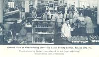 General View of Manufacturing Plant, The Luzier Beauty Service, Kansas City, Mo Postcard
