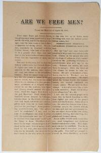image of Are we free men? From the Monitor of April 29, 1886 [leaflet]