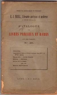 Catalogue no.45/n.d: Livres Précieux et Rares. by  E.J - LEIDE BRILL - from Frits Knuf Antiquarian Books (SKU: 68844)