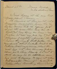 Manuscript on paper, in English. European travel diary.