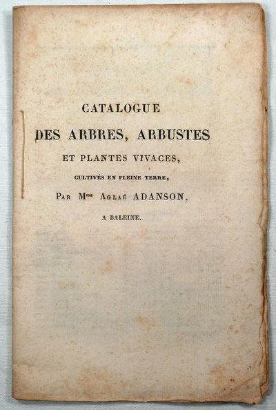 CATALOGUE DE ARBRES, ARBUSTES ET...
