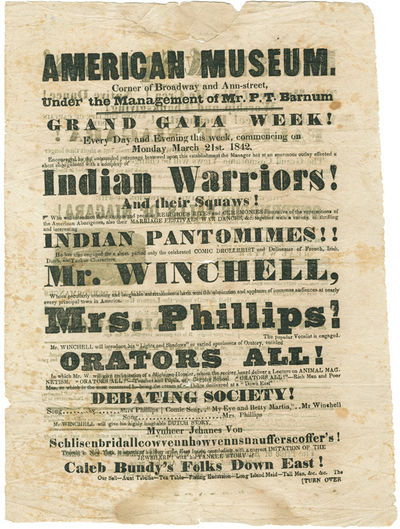 : Wm. Applegate' Steam Presses, 1842. Letterpress broadsheet, 12 x 8 3/4 inches. Small engraving of ...