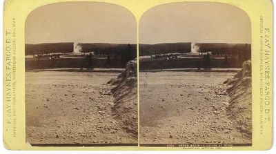Fargo, D.T.: Published by F. Jay Haynes, 1883. Stereoview. Albumen photograph on a curved yellow 'F....
