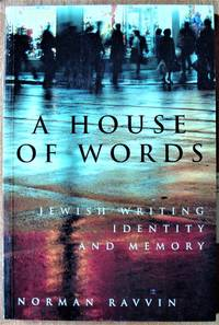 image of A House of Words. Jewish Writing, Identity, and Memory
