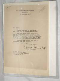 1 Typed Letter Signed to Ralph K. Davies,,  September 25, 1947