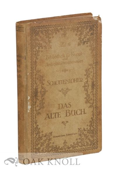 Berlin: Richard Carl Schmidt & Co, 1921. boards. 8vo. boards. 432 pages and ads. Second, enlarged ed...