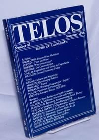 image of Telos No. 36, Summer, 1978