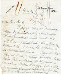image of TWO-PAGE AUTOGRAPH LETTER TO TOUR MANAGER JAMES B. POND SIGNED BY NOTED ENGLISH EXPLORER ROSITA FORBES, WRITTEN IN 1925, THE YEAR HER BOOK