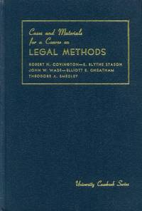 image of Cases and Materials for a Course on Legal Methods