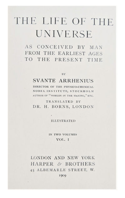 London and New York:: Harper & Brothers, 1909., 1909. Series: Harper's Library of Living Thought. 2 ...