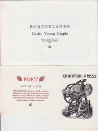 BULL THISTLE PRESS - 6 Postcards, Original envelope, Along with Borderlands By Czapla