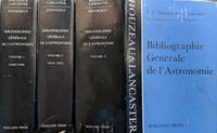 General Bibliography of Astronomy to the Year 1880 / Bibliographie Generale De L'Astronomie Jusqu'en 1880. Three volumes (Volume I Parts 1 and 2, Volume II).