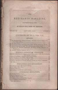 Hunt's Merchants' Magazine. Volume XII, No. 1 January 1845