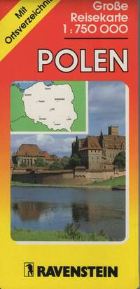 Poland Road Map woth Separate Index 1:750,000