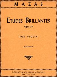 Etudes Brillantes, Op. 36 - Book II - for Violin [VIOLIN SCORE]