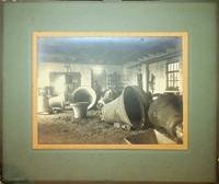 [ Photography, Industrial ]  Silver print of a Bell foundry showing eight very large bells