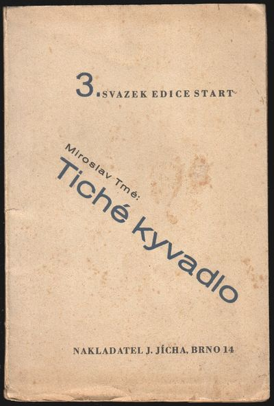 Brno: Nakladatel Joža Jícha, 1932. Octavo (21 × 14 cm). Original decorative wrappers by J. Keprt;...