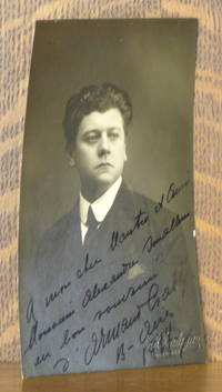 image of REAL PHOTO POSTCARD OF ARMAND CRABBE WITH AN INSCRIPTION TO ALEXANDER SMALLENS SIGNED BY CRABBE DATED 1914
