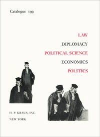 Law, Diplomacy, Economics, Political Science, Economics. Catalogue 199