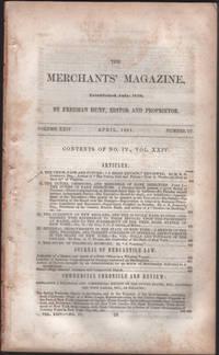 Hunt's Merchants' Magazine. Volume XXIV, No. 4 April and No. 6 June 1851