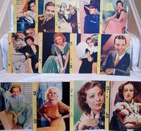 """1935 DIXIE CUP """"SCRAPBOOK OF PHOTO STARS"""" PREMIUMS (13)"""