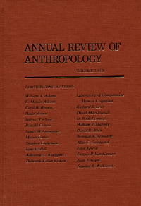 Annual Review of Anthropology, Volume 7, 1978