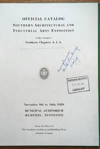 Official Catalog, Southern Architectural and Industrial arts exposition under auspices southern...