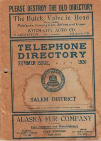 Telephone Directory. Summer issue, 1920. Salem District