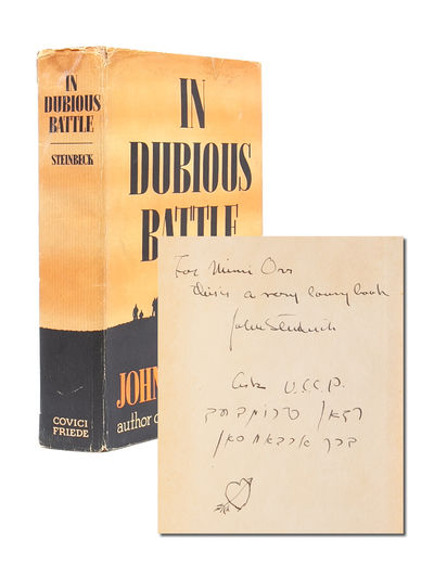 New York: Covici Friedi, 1936. First edition. A Very Good+ copy in like dust jacket. Cloth a bit soi...