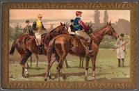 image of An Original 1915 Horse Racing Divided Back Postcard