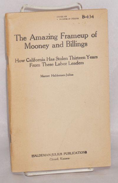 Girard, Kansas: Haldeman-Julius Publications, 1931. 113p., wraps, paper slightly toned, very good, 5...