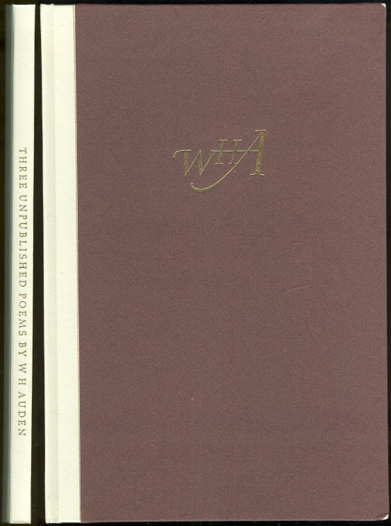 THREE UNPUBLISHED POEMS, Auden, W. H.