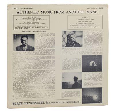 Newark: Slate Enterprises, Inc, 1957. Original Pressing. Very Good. Vinyl LP. Slate #211. Original p...