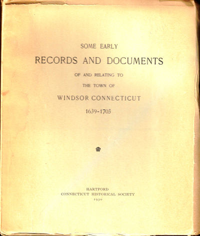 Hartford: Connecticut Historical Society, 1930. Paperback. Very good. 199pp.+index. Light dampstain ...