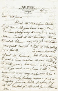 image of FOUR-PAGE AUTOGRAPH LETTER TO TOUR MANAGER JAMES B. POND SIGNED BY NOTED ENGLISH EXPLORER ROSITA FORBES APOLOGIZING PROFUSELY FOR NUMEROUS