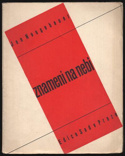 Prague: Edice Sad, 1932. First Edition. Large octavo (25 × 19.6 cm). Original decorative wrapper...