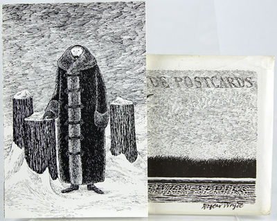 1978. Gorey, Edward. First edition. Signed by Gorey. Sixteen seemingly unrelated postcards housed in...