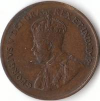 1920 XF Canadian Small Cent George V Penny