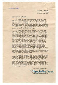 Fine content Margaret Mitchell signed letter on the result of her recently published novel Gone...
