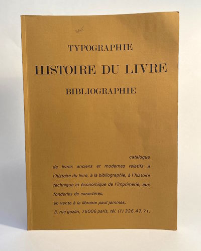Paris: Librairie Paul Jammes. FIRST EDITION. Softcover. Very good. Minor wear, minor pencil notation...