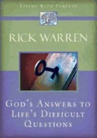 image of GODS ANSWERS TO LIFES DIFFICULT QUESTIONS (Living with Purpose)